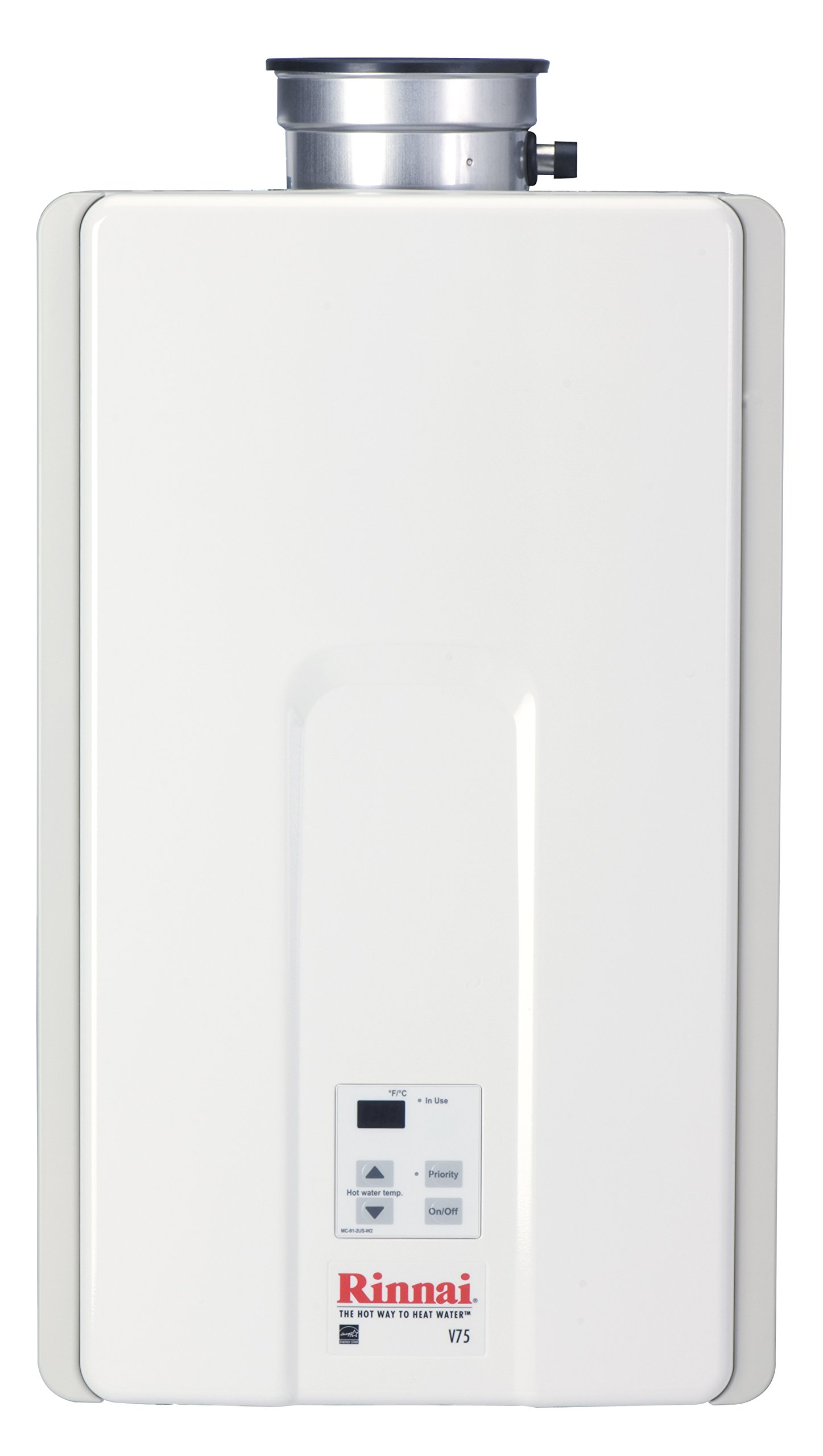Rinnai V75IN 7.5 GPM Indoor Low NOx Tankless Natural Gas Water Heater