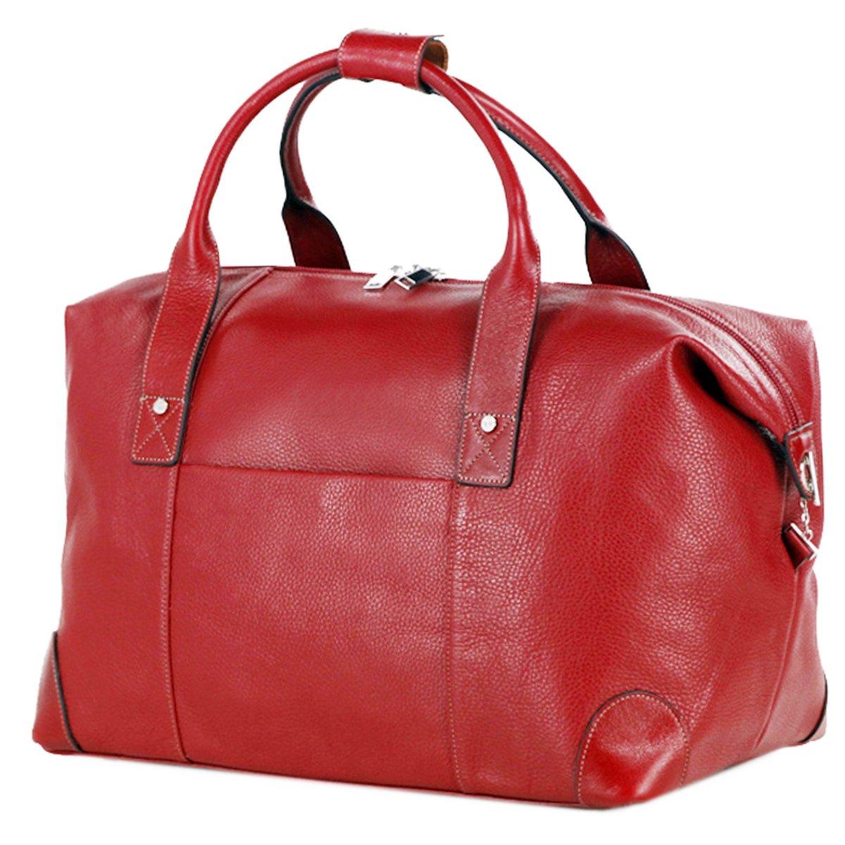 LIVAN® - sac de voyage travel - 60 X 36 X 25cm - Porté épaule, avant-bras ou bandoulière - 100% cuir de vachette neuf (NOIR)