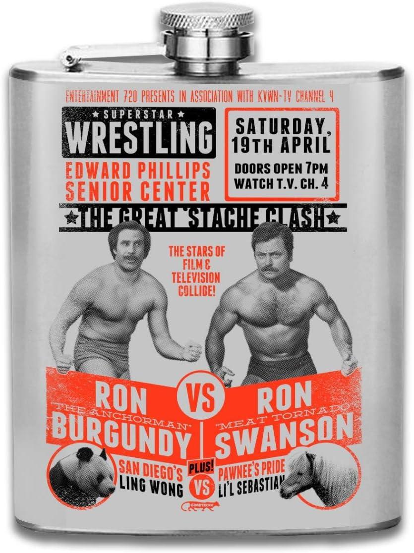 Superstar Wrestling Ron Swanson Vs Ron - Petaca portátil de ...