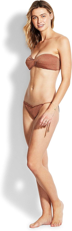 Seafolly Womens Stardust Twist Bandeau Bikini Top