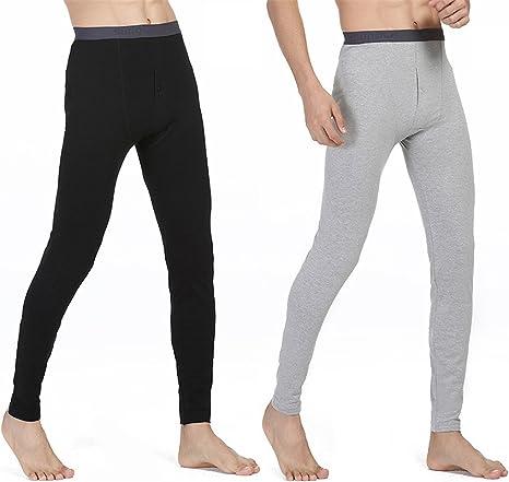 HMILYDYK - Pack de 2 Pantalones térmicos para Hombre, de algodón ...