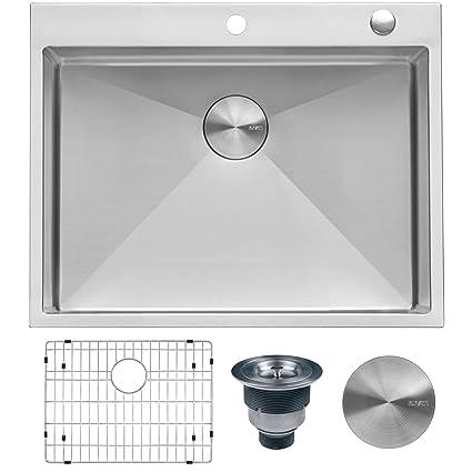 Amazon.com: Ruvati - Fregadero de cocina de acero inoxidable ...