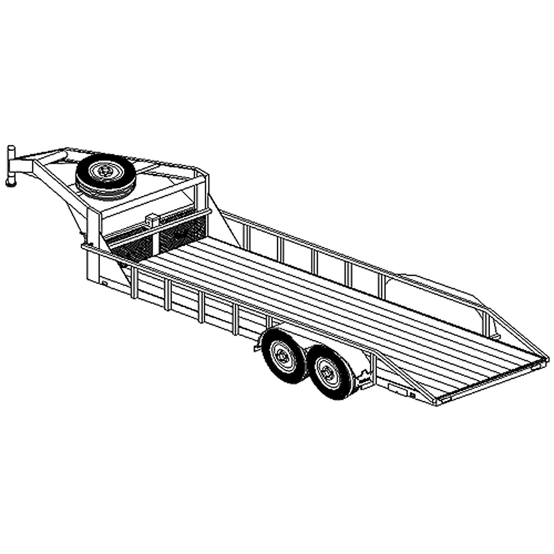 6' 6'' x 20' Gooseneck Lowboy Trailer Plans Blueprints, Model 2220 by Master Plan & Design