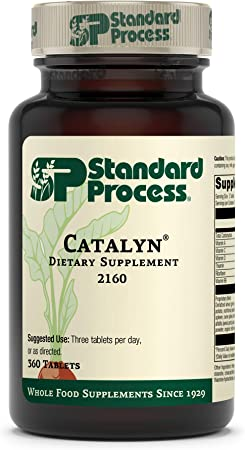 Standard Process Catalyn - Whole Food Foundational Support for General Wellbeing with Vitamin D, Vitamin C, Vitamin A, Thiamine, Riboflavin, Vitamin B6, Magnesium Citrate, and More - 360 Tablets