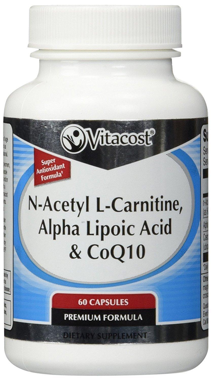 Vitacost CoQ10 + Alpha Lipoic Acid + Acetyl L-Carnitine HCl -- 60 Capsules