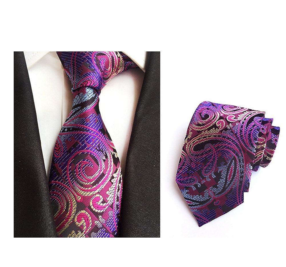 DW&HX Hombres florales corbata corbata, Seda y poliéster Traje ...