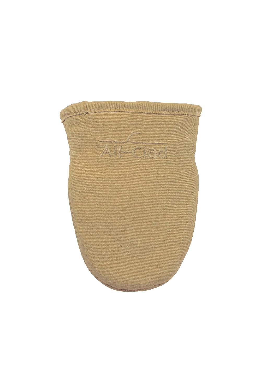 All-Clad Textiles Cotton Twill and Silicone Grabber Mitt, Cappuccino