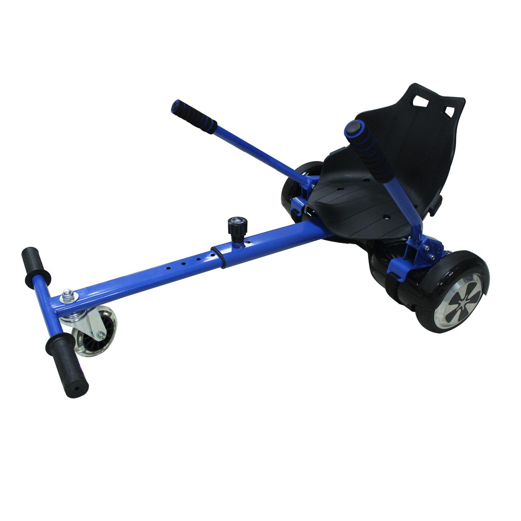 Toytexx Adjustable Go Kart Cart HoverKart Stand Seat for Hoverboards-Blue Color