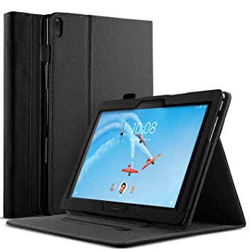 IVSO Funda Carcasa para Lenovo Tab M10 TB-X605, Slim Front Support Stand Protectora Carcasa para Lenovo Tab M10 TB-X605, Negro