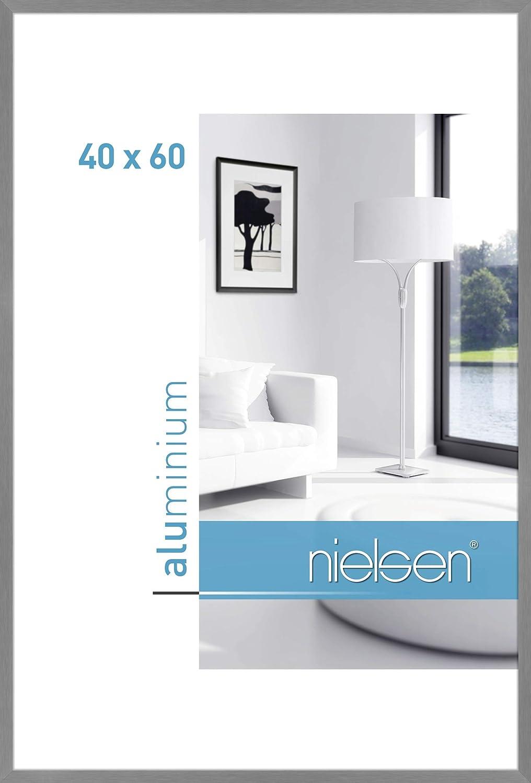 Nielsen Alurahmen C2 10x15 cm struktur silber matt
