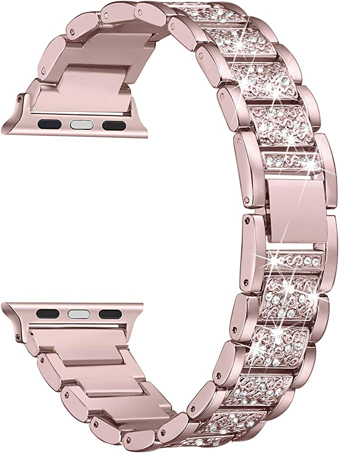 Amazon.com: Secbolt Bling Bandas compatibles con Apple Watch ...