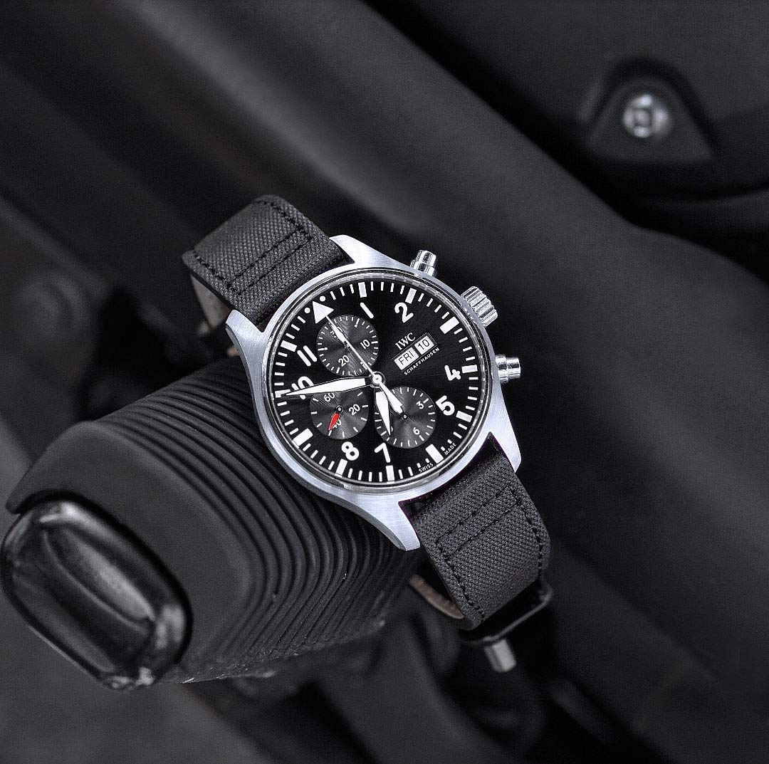 B & R Bands 21mm Black Tactical IWC Pilot Style Watch Band Strap by B and R Bands (Image #4)