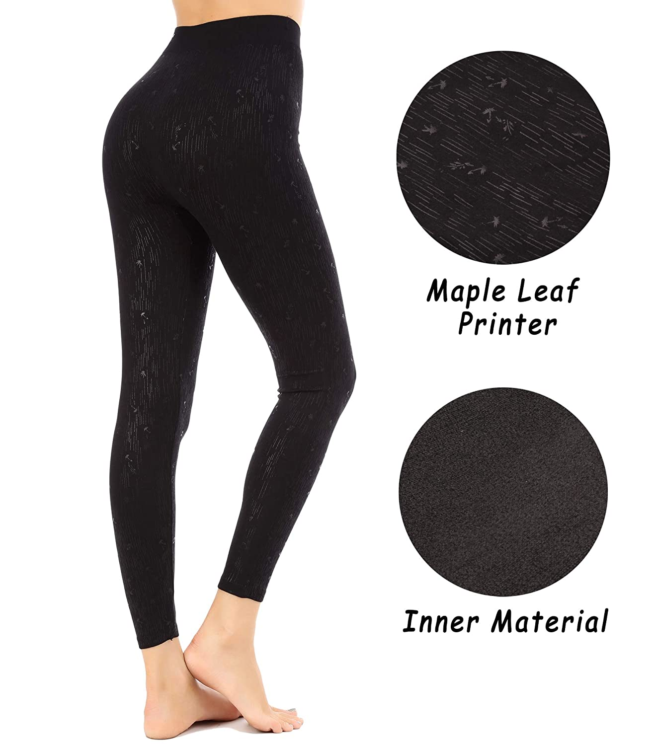 FISOUL Ultra Soft High Waist Printed Leggings Yoga Workout Pants Stretchy Capris Free Size