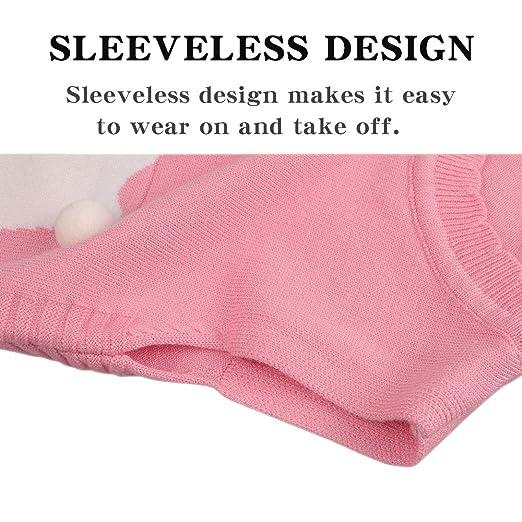 Baby Girl Sweater Vest Dog Print Toddler Kids Ruffles Coat Cotton Blended Knitting Cardigan O-Neck Sleeveless Pullover
