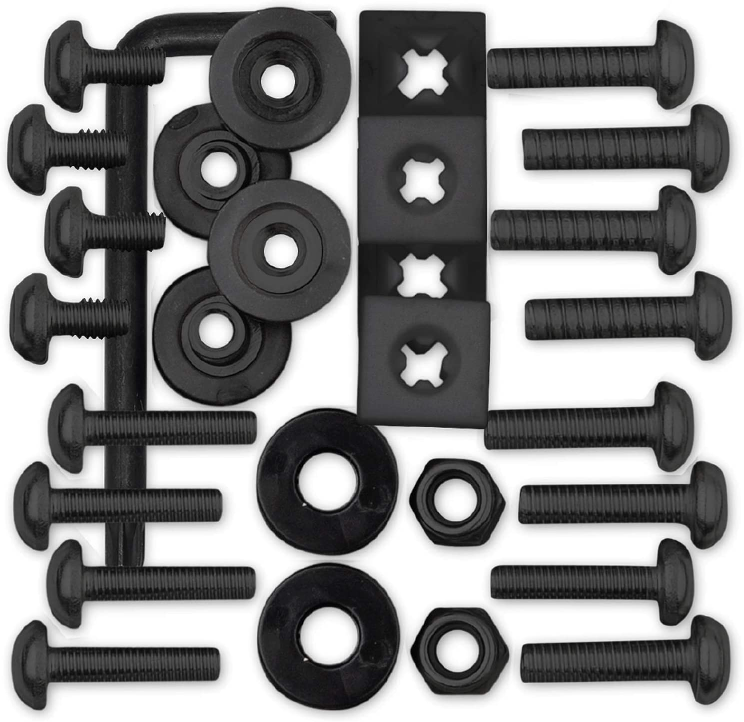 Cruiser Accessories 81550 License Plate Locking Fasteners Ultimate Kit-Stainless Black Star Pin