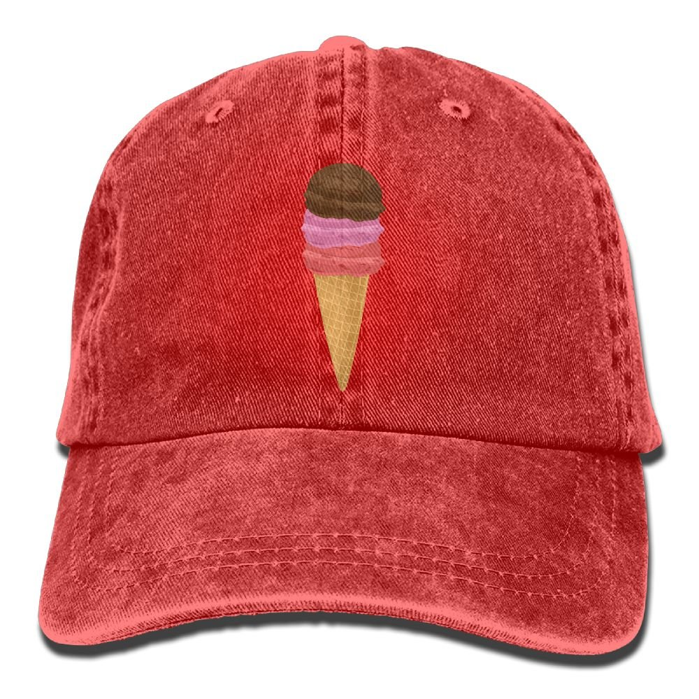 Hat Ice Cream Cone Denim Skull Cap Cowboy Cowgirl Sport Hats For Men Women Huayaa