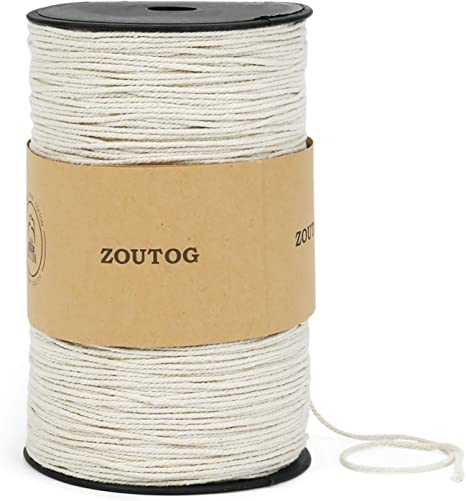 Craft Making Klhamky 2mm/×984ft Macrame Cotton Cord Beige, 2mm/×984ft Plant Hangers Decorative Projects DIY Soft Twisted 100/% Natural Cotton for Handmade Wall Hanging Not Dyed Knitting