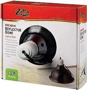 Zilla Reptile Terrarium Heat Lamps and Habitat Lighting Dome, Black 8.5 Inch