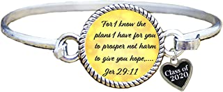 product image for Custom I Know the Plans I have Class of 2020 Christian Graduation Bracelet Jer 29:11 Choose Initial