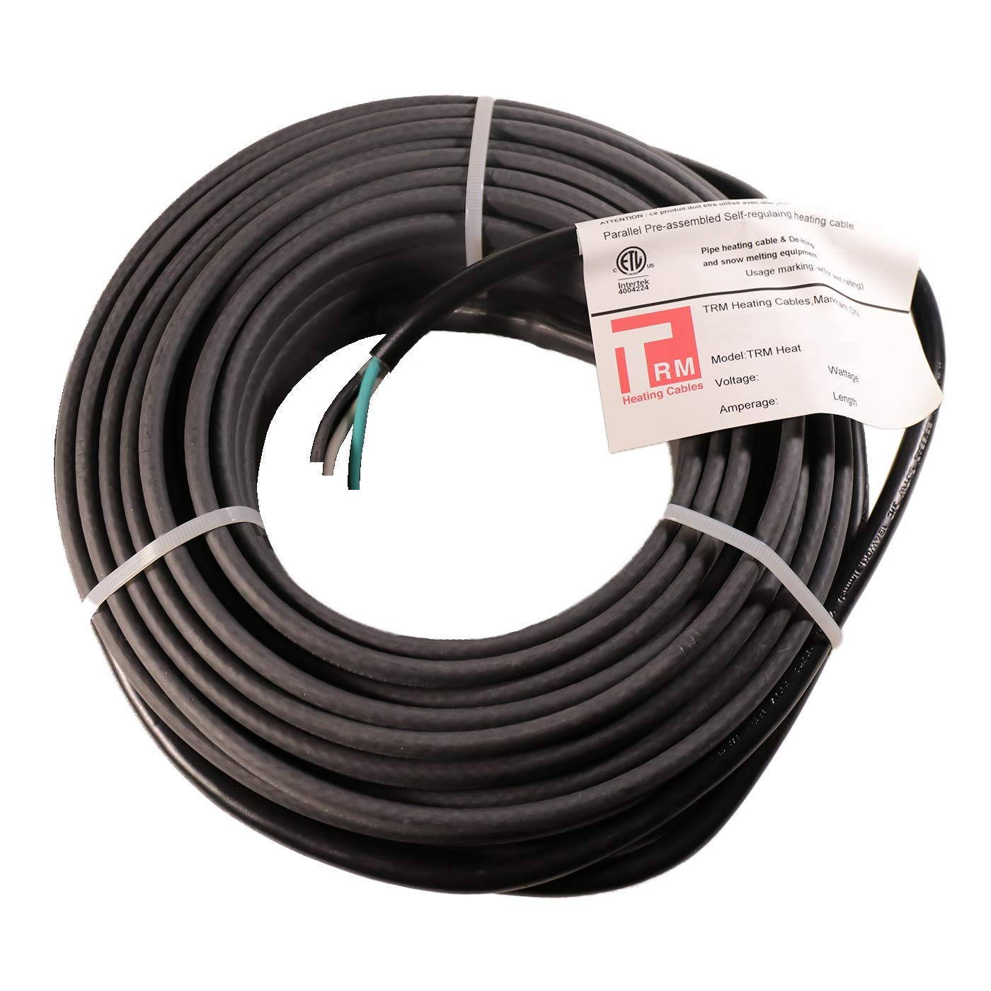 Thermal Resources Management Self-Regulating De-Icing Roof Heating Cable - for Heat Tracing and Ice Dam Prevention - Direct Plug-in System - 240 Volts (6 Feet + 6 Feet Cold Lead) by Thermal Resources Management