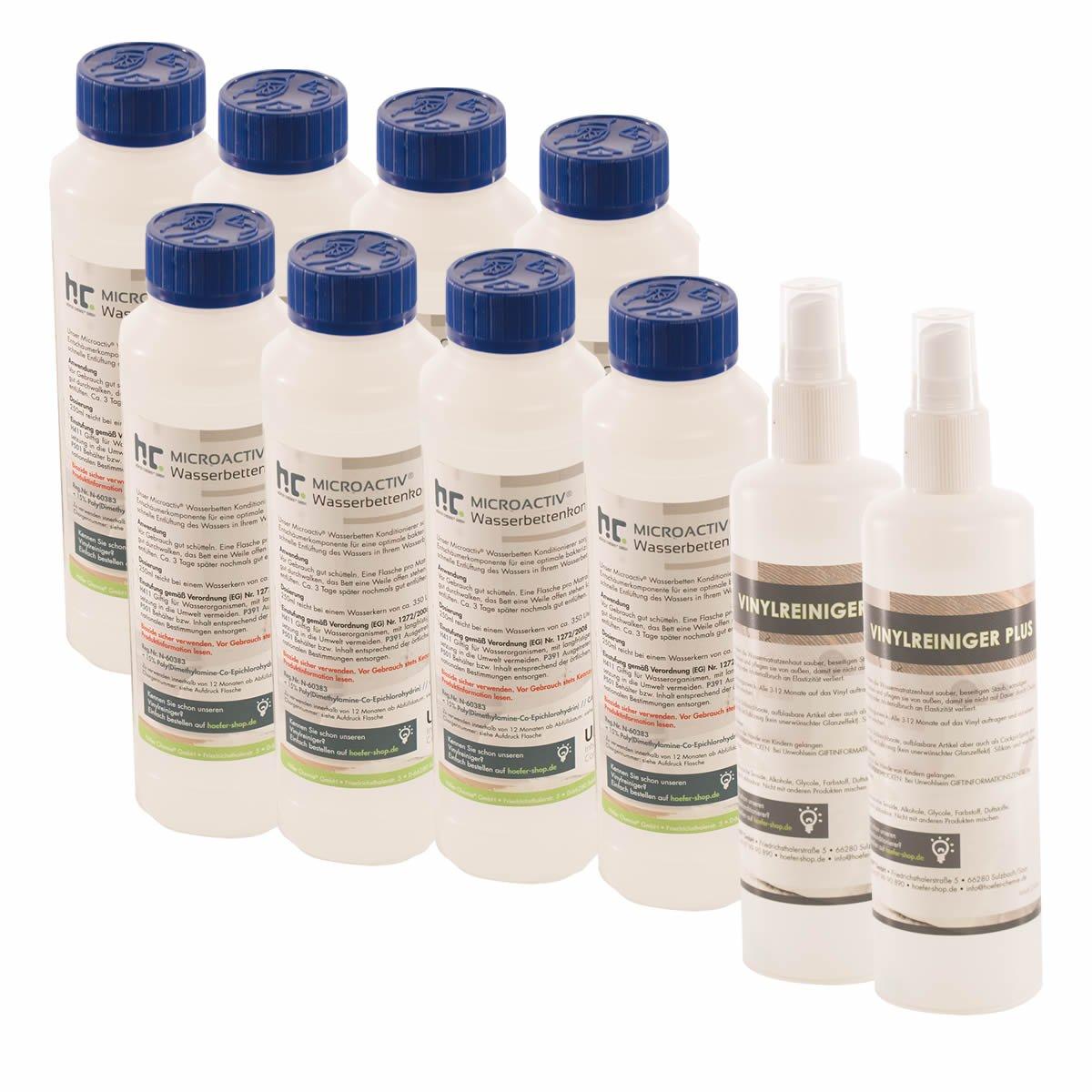 8 x 250 ml & 2 x 250 ml conditionneur lit à eau - FRAIS DE PORT OFFERT - en bouteilles de 250 ml