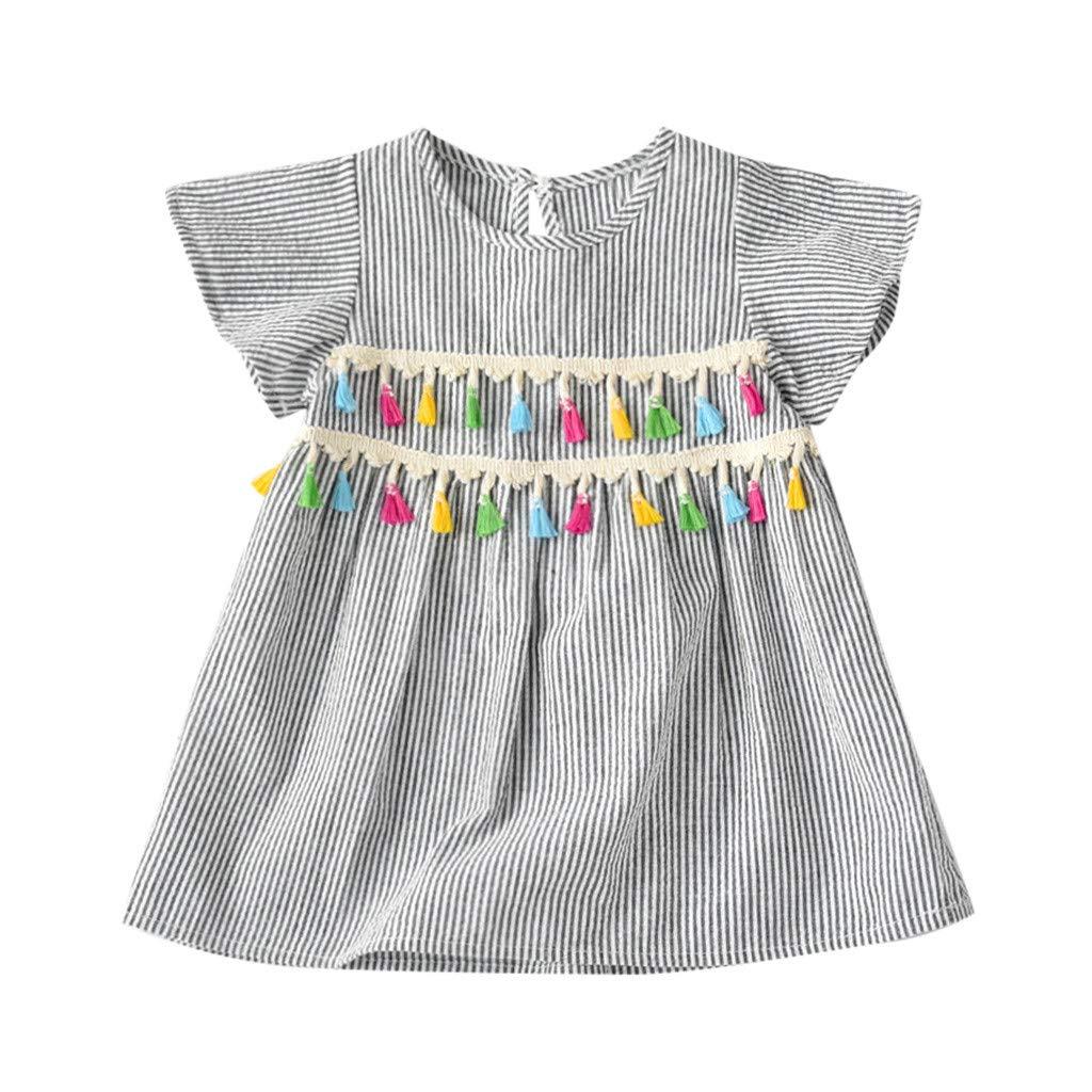 d9d1ae4a576 Amazon.com: OCEAN-STORE Girls Sundresses Infant Toddler Baby Dresses ...