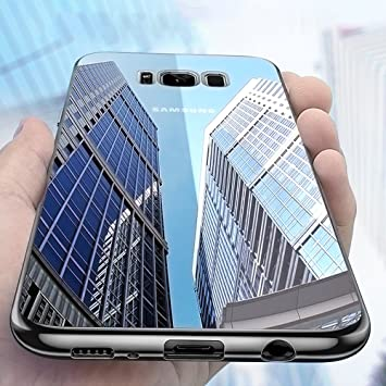Samione Funda Galaxy S8, S8 Carcasa Funda Protectora Cristal Claro Bumper TPU Funda Slim Silicona Case Cover para Samsung Galaxy S8 - Transparente