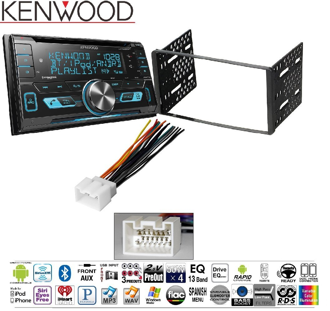 kenwood excelon dpx793bh double din cd receiver with built in bluetooth hd  radio ford 1998-2008 ranger car radio stereo cd player dash install  mounting kit