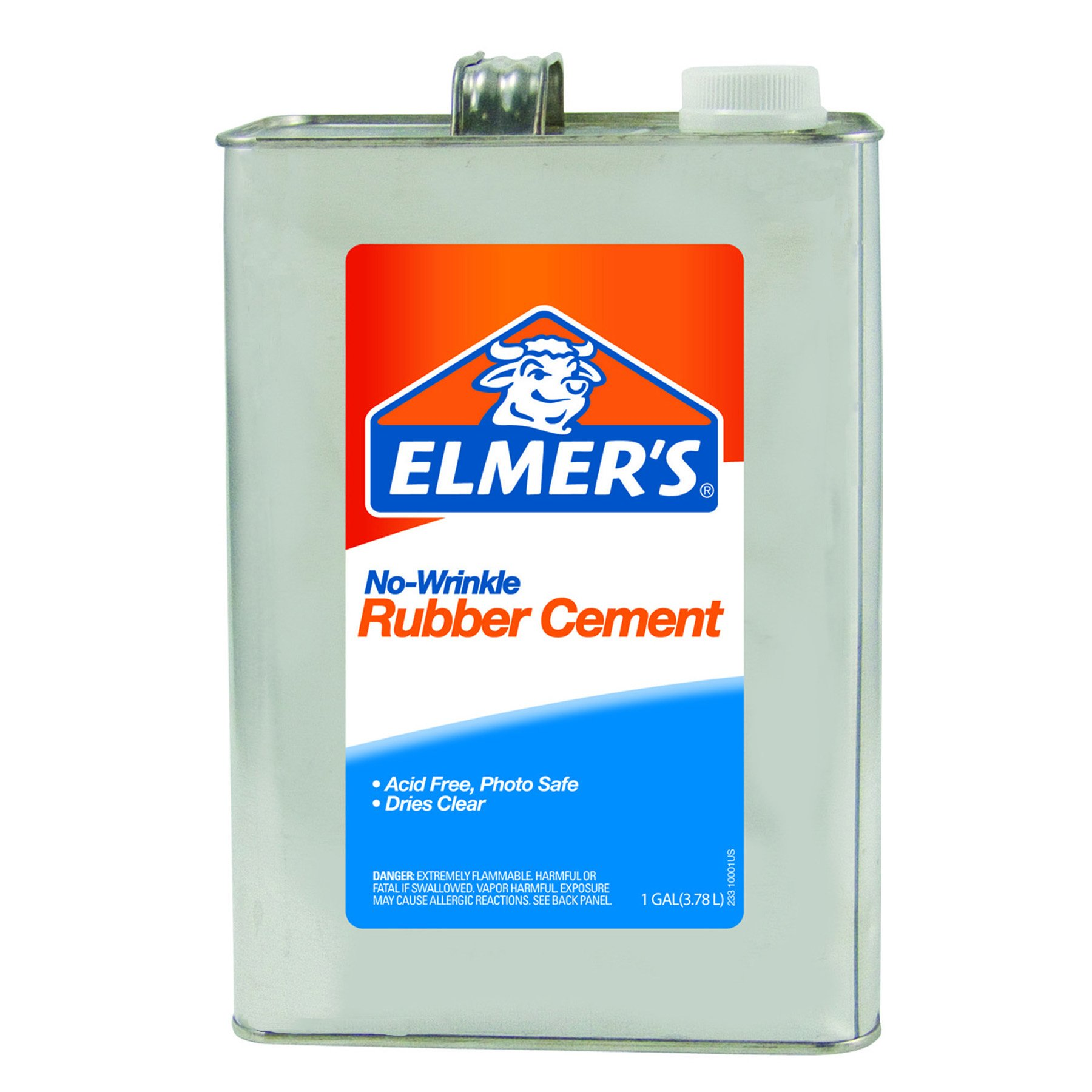 ELMERS No-Wrinkle Rubber Cement, 1 Gallon, Clear (234)