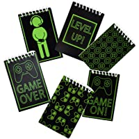 48 Count Gaming Mini Notepads Birthday Party Supplies Video Gaming Party Favors and Decorations Glowing Gamer Favor Pack…