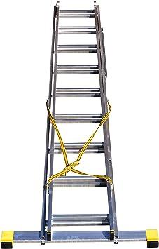 4,26 m 2 secciones escalera extensible/escalera con estabilizador integrado: Amazon.es: Bricolaje y herramientas