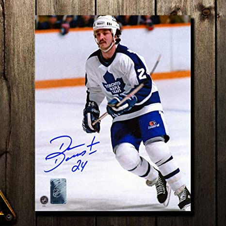 half off 40eff d5461 Dan Daoust Toronto Maple Leafs WHITE JERSEY Autographed 8x10 ...