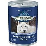Blue Buffalo Wilderness High Protein, Natural Senior Wet Dog Food, Turkey & Chicken Grill
