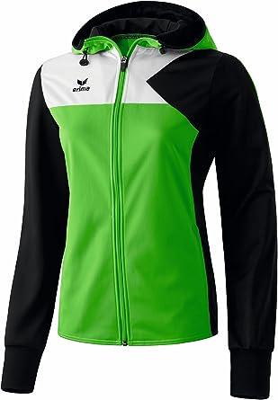 erima Damen Jacke Premium One Trainingsjacke mit Kapuze