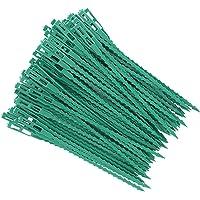ZITFRI - 80 ganchos para tomates árboles, tutores de plantas, fijación y soporte ajustable para plantas, abrazaderas de…