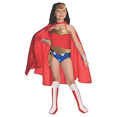 Rubies DC Super Heroes Collection Deluxe Wonder Woman Costume, Medium: Toys & Games