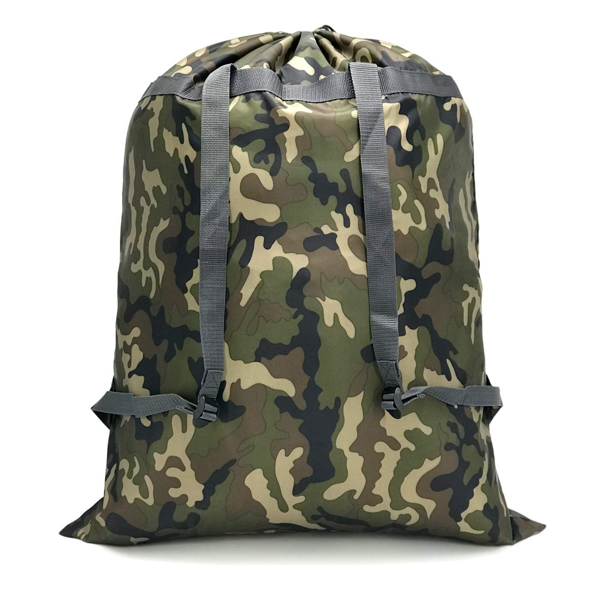 Extra Large Laundry Bag [26''x34''] Sturdy rip and tear resistant polyester material with drawstring closure Ideal machine washable laundry bags for college dorm and apartment dwellers. (Jungle camo)