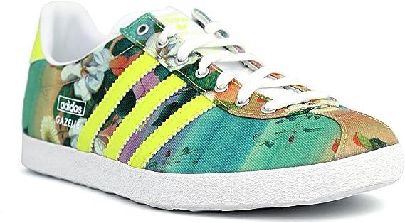 Ingenieria para donar vacío  adidas Women's Gazelle OG WC Farm Footwear-Turquoise/Lime/Purple/White,  Size 7: Amazon.co.uk: Clothing