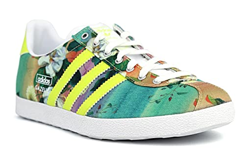 new concept a0a36 2f3df adidas Originals Women s Gazelle Og Wc Farm W Lime Green and Multi Sneakers  ...