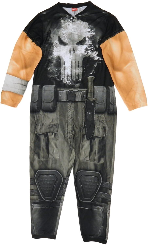 Marvel The Punisher Mens Costume Union Suit One Piece Pajamas