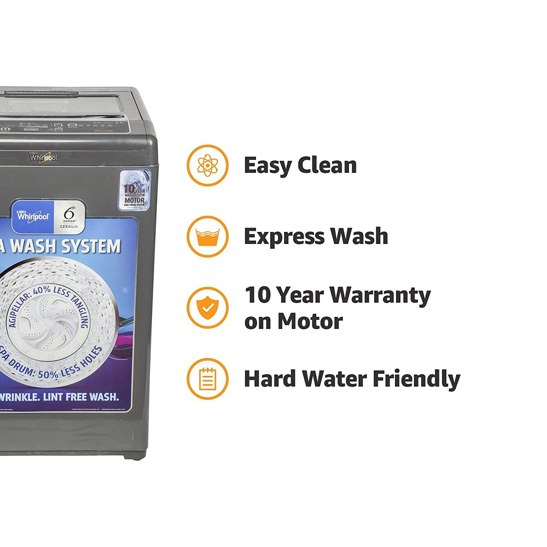 Whirlpool 6 5 kg Fully-Automatic Top Loading Washing Machine (Whitemagic  Premier 6 5, Grey)