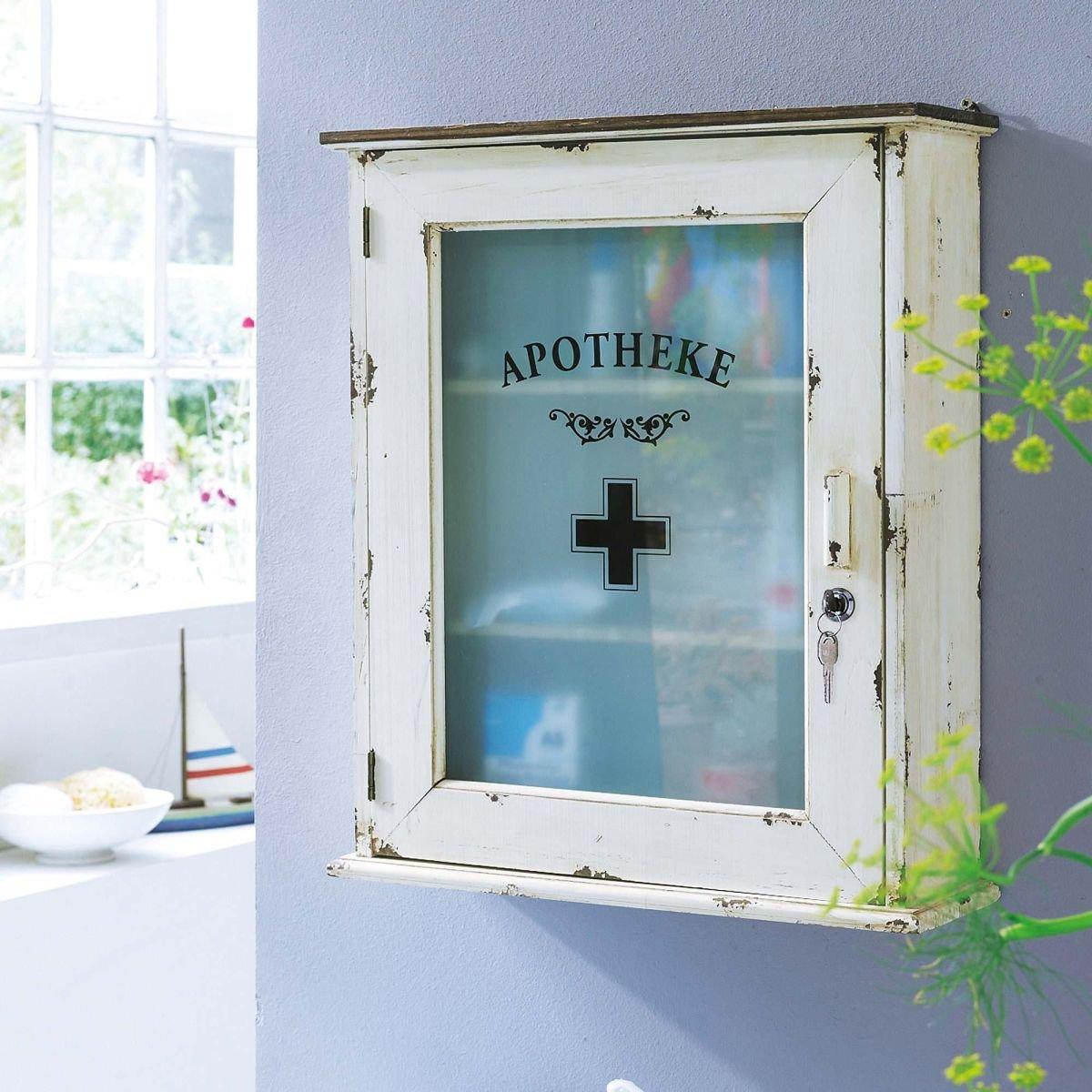 Medizinschrank mit Motiv Schriftzug Apotheke Shabby Chic Vintage ...