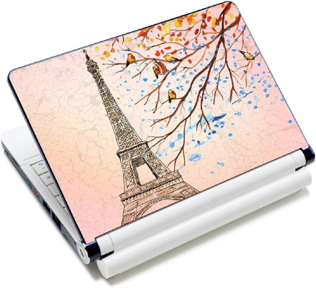 "Laptop Skin Sticker Decal,12"" 13"" 13.3"" 14"" 15"" 15.4"" 15.6 inch Laptop Skin Sticker Cover Art Decal Protector Notebook PC (Eiffel Tower)"