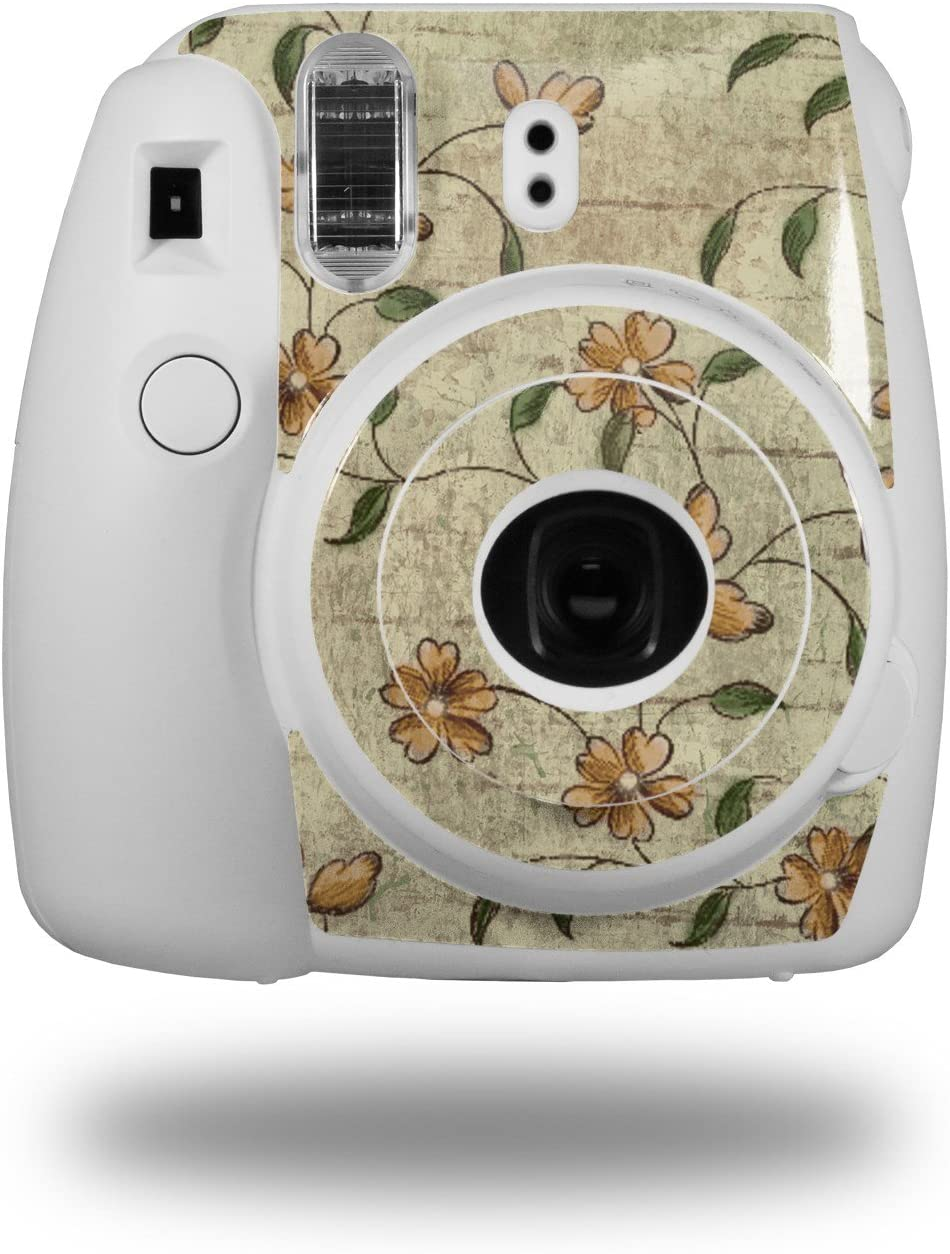 WraptorSkinz Skin Decal Wrap for Fujifilm Instax Mini 8 Camera Flowers and Berries Orange Camera NOT Included