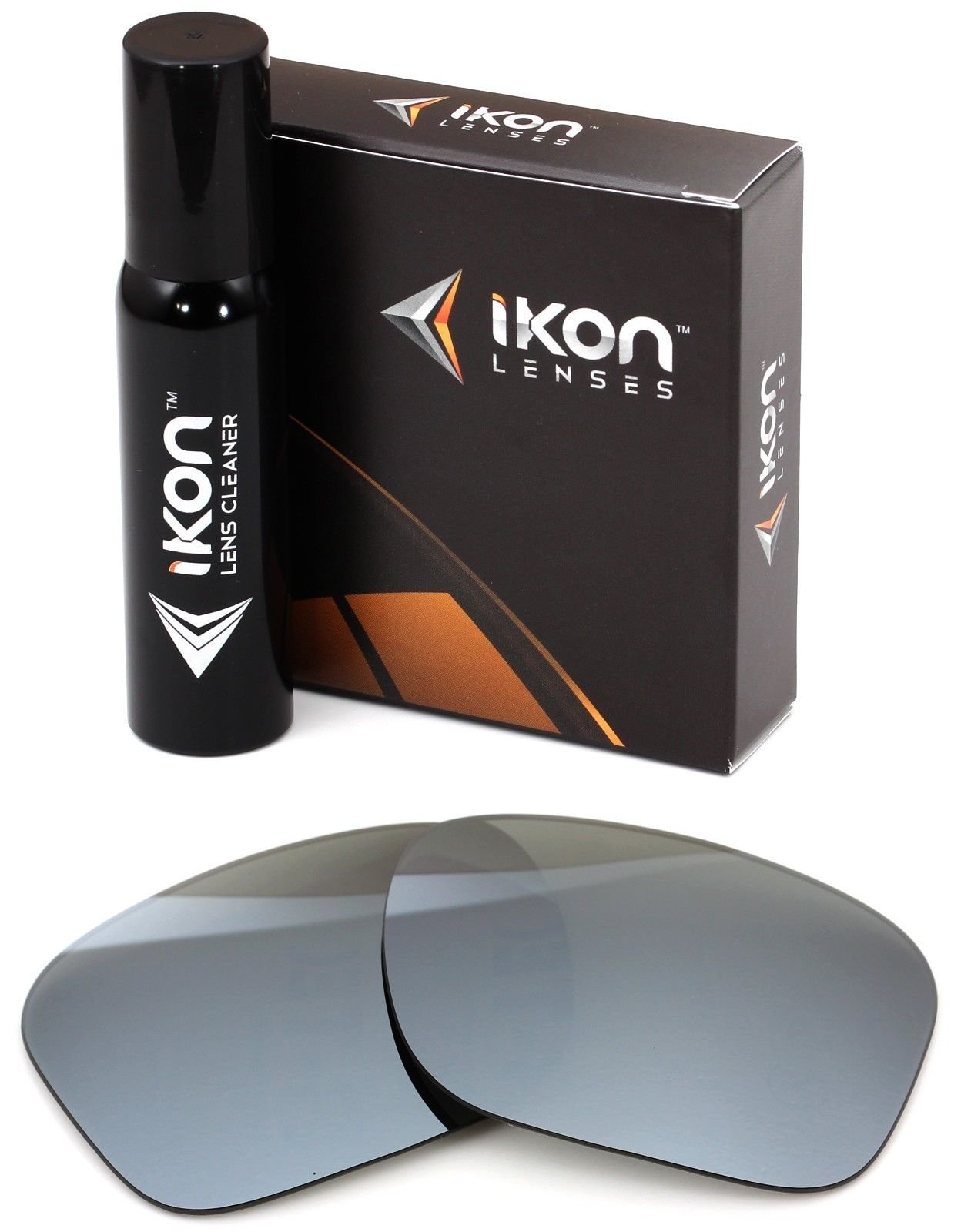 Polarized Ikon Iridium Replacement Lenses for Oakley Holbrook Sunglasses - Silver Chrome Mirror by Ikon Lenses