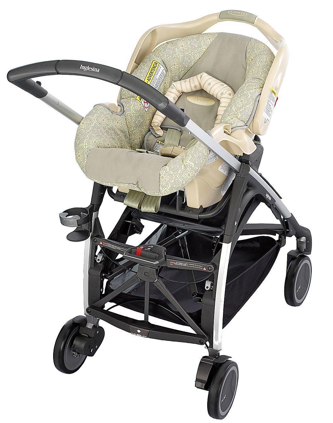 Inglesina Avio Adapter for Graco Infant Car Seat, Gray