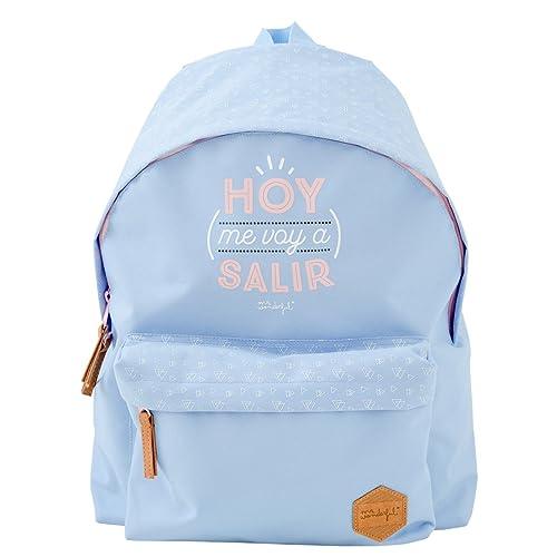 Mr.Wonderful Mochila Hoy Me Voy A Salir, Color Lila: Amazon.es: Zapatos y complementos