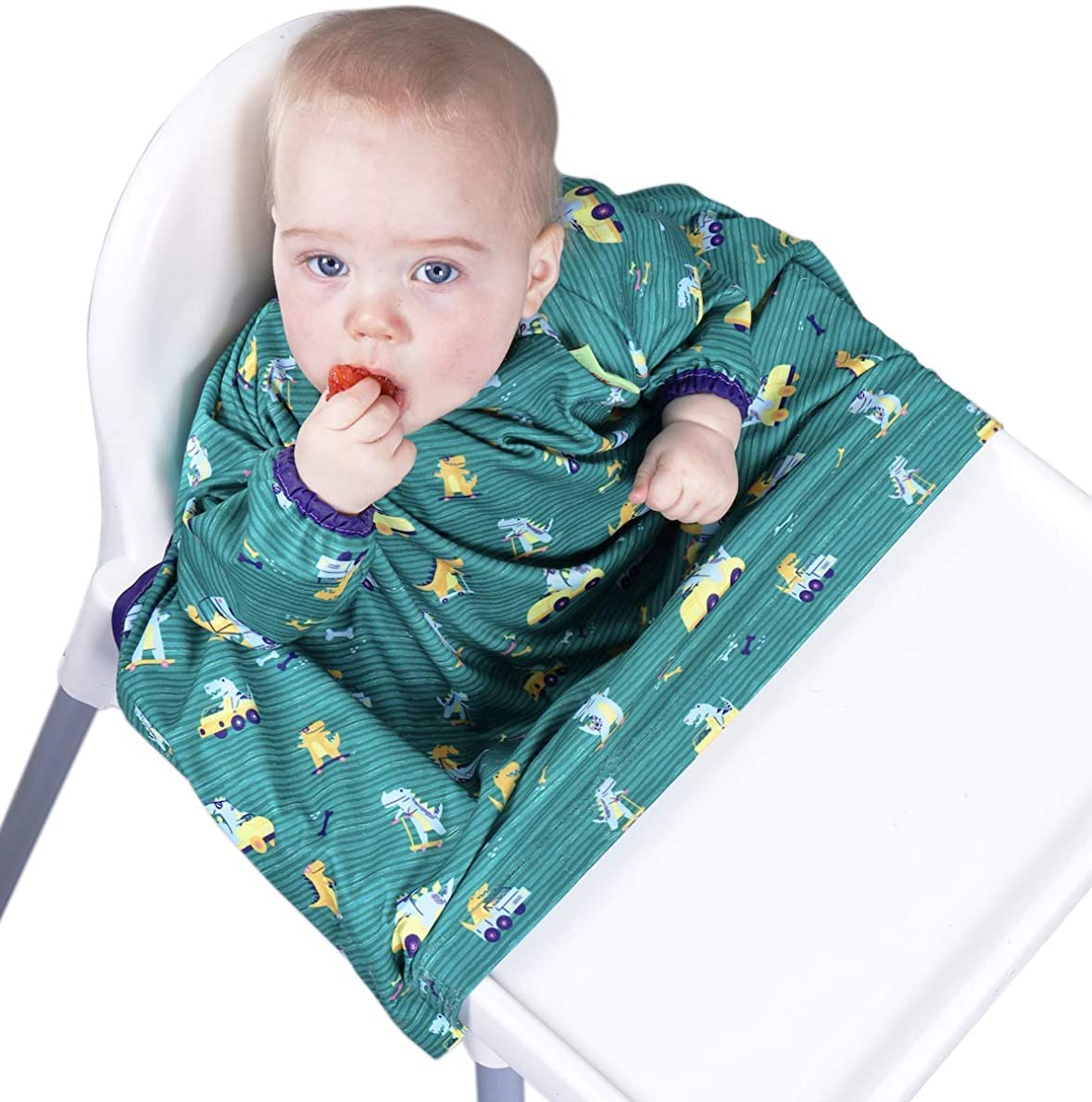 BIBaDO Baby Feeding Coverall Straps To Any Highchair Ideal for BLW Weaning Bib