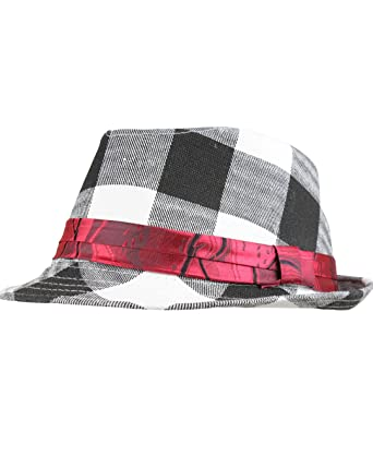 01c4d42aff278 Amazon.com  RuggedButts Infant   Toddler Boys Fedora - Black White - 12-24m  (M)  Infant And Toddler Hats  Clothing