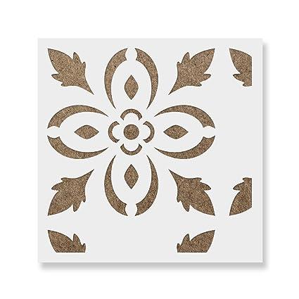 Reusable Floor /& Backsplash Scandinavian Tile Stencils for Home Decor Rosario Tile Stencil Furniture and Walls 16x16